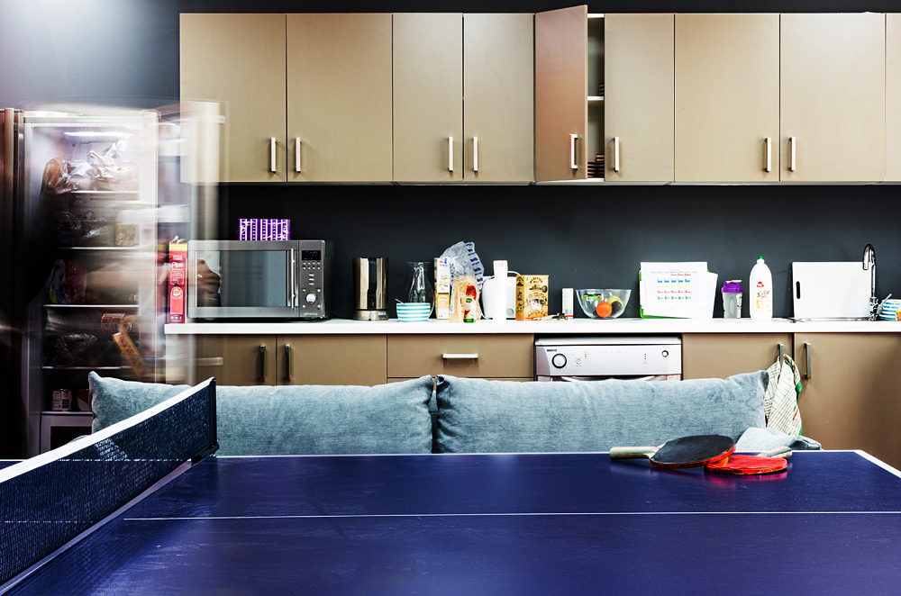 EDT Kitchen with ping pong table for background
